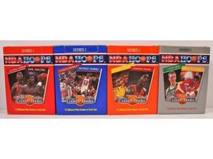 1990 NBA Hoops Series 1 Collect A Books Factory 4 Box 48 Card Set