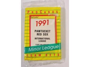 1991 Pro Cards Pawtucket Red Sox Minor League Factory Team Set