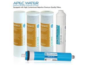 APEC 50 GPD 5 Stage High Capacity Replacement Filter Set For Essence Series Reverse Osmosis Water Filter System (FILTER-MAX-ES50)