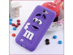 Soft silicone M&M Fragrance Chocolate Case For Samsung Note 2 N7100,M Rainbow Beans case cover For Samsung Galaxy Note 2 N7100