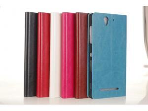 Leather Stand Case For Sony Xperia C3 Hight Quality Cell Phone Case Cover For S Leather