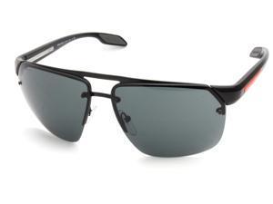 Prada Sport PS57OS Sunglasses-1BO/1A1 Black Demi Shiny (Gray Lens)-64mm