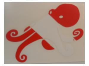 Innovative Die Cut Octopus Decal Red/White