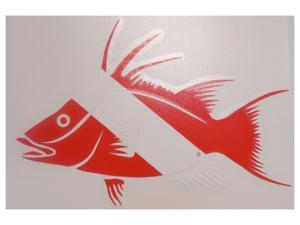 Innovative Die Cut Hogfish Decal