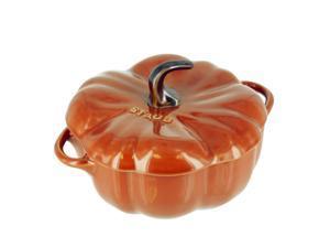 Staub Ceramic Pumpkin Cocotte, Burnt Orange