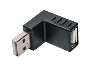Right Angle USB Male Down Facing Horizontal Female Adapter Extension Connector