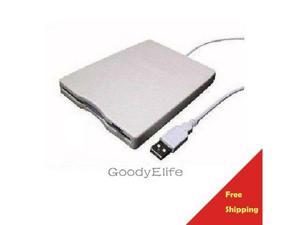 "Slim External USB 3.5"" inch 1.44MB Floppy Drive for MacBook Apple iMac Air White"