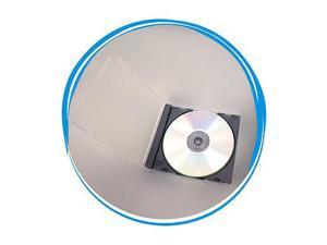 100 Standard 10.4mm Assembled Single CD DVD Jewel Cases Black Tray Hold 1 Disc