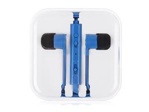 3.5mm In-Ear Earbuds Earphone With Remote Mic For iPhone 4 4s 5c 5 5s 6 6 Plus Mp3 4(Blue)