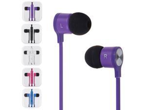 3.5mm In-Ear Earbuds Earphone With Remote Mic For iPhone 4 4s 5c 5 5s 6 6 Plus Mp3 4(Purple)