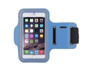 Adjustable Sports Gym Running Armband Arm Band Case For 4.7 inch Apple iPhone 6(Sky Blue)
