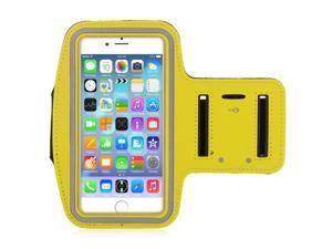 Adjustable Sports Gym Running Armband Arm Band Case For 5.5 inch Apple iPhone 6 Plus(Yellow)