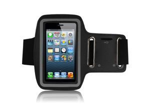 Adjustable Sports Gym Running Armband Arm Band Case For Apple iPhone 5S(Black)