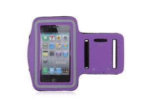 Adjustable Sports Gym Running Armband Arm Band Case For Apple iPhone 4S(Purple)