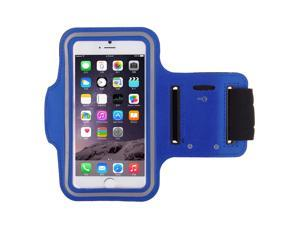 Adjustable Sports Gym Running Armband Arm Band Case For Apple iPhone 4S(Dark Blue)