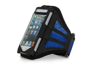 Mesh Gym Armband Case Sports Running Jogging Cover For Apple iPhone 4 4s Blue