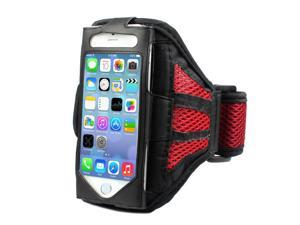 Mesh Gym Armband Case Sports Running Jogging Cover For Apple iPhone 4 4s Red