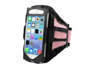 Mesh Gym Armband Case Sports Running Jogging Cover For Apple iPhone 4 4s Pink