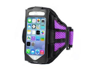 Mesh Gym Armband Case Sports Running Jogging Cover For Apple iPhone 4 4s Purple