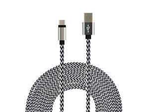 SEGMOI(TM) 1M 3Ft Bold Nylon Braided USB Type-C 3.1 to USB 2.0 A  Data Charging Sync Cable Reversible Connector Charger Cord for Galaxy Note 7, New Macbook 12 inch,Oneplus,LG G5,Nexus 6p,Xiaomi –White