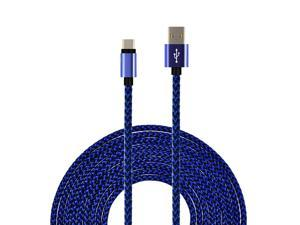 SEGMOI(TM) 1M 3Ft Bold Nylon Braided USB Type-C 3.1 to USB 2.0 A  Data Charging Sync Cable Reversible Connector Charger Cord for Galaxy Note 7, New Macbook 12 inch,Oneplus,LG G5,Nexus 6p,Xiaomi –Blue