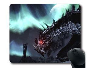 "for Skyrim logo Mousepad, Customized Rectangle Mouse pad 9"" x 10"""