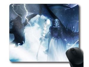 "for The Elder Scrolls V: Skyrim Dragonborn Custom Mouse Pad Rectangle 9"" x 10"""