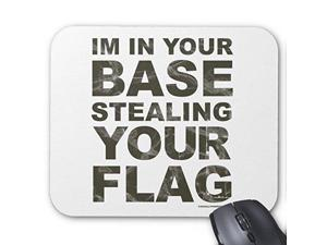 """Custom Rectangle Mouse Pad Gaming Mousepad Stealing Your Flag - FPS, Game, Gamer, Video Games Mouse Pad Great Office Accessory and Gift 10"""" x 11"""""""