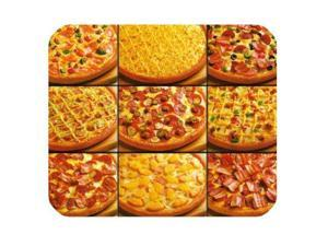 "Unique Pizza Pattern Customized Rectangle Non-Slip Rubber Mouse Pad Gaming Mousepad (SunshineMP-686) 9"" x 10"""