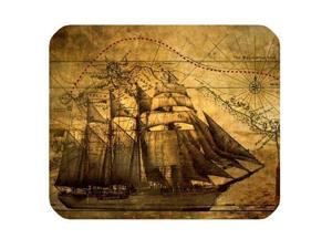 "Nautical Vintage Sailing Pirate Ship Theme Mouse Pad - Gamer Gaming Mouse Pad 10"" x 11"""