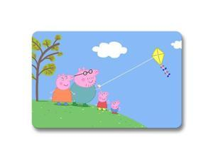 "Technology Peppa Pig Office Kitchen Non-slip Door Mat Foot Pad 18"" x 30"""