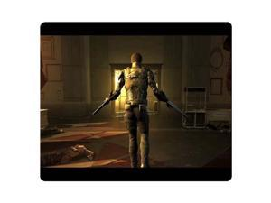 "Game Mouse Pads rubber + cloth smooth surface durable Deus Ex Human Revolution 9"" x 10"""
