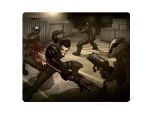 "gaming mouse mat cloth & rubber Rough Elegant Deus Ex Human Revolution 10"" x 11"""
