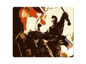 "gaming mousemat cloth and rubber rubber and cloth Rubber Base Deus Ex Human Revolution 9"" x 10"""