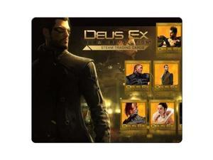 "mousemats rubber + cloth prevent skipping mice Deus Ex Human Revolution 10"" x 11"""