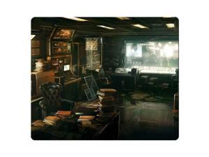"gaming mousemat cloth + rubber cloth Surface fabric surface Deus Ex Human Revolution 8"" x 9"""