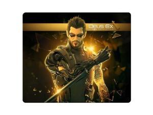 "game Mouse Pad rubber * cloth Non-skid non-slip backing Deus Ex Human Revolution 8"" x 9"""