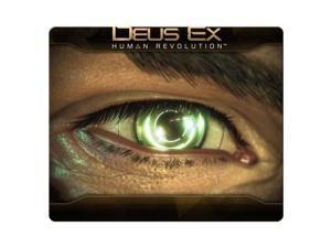 """Mouse Mat rubber / cloth precise low-friction Deus Ex Human Revolution 8"""" x 9"""""""