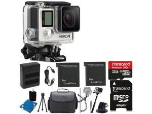 GoPro HERO4 SILVER Edition +Touchscreen +Dual Charger + 2 Battery + 32GB Top Kit