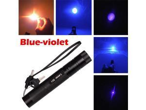 Military Adjustable Focus Blue-Purple Laser Pointer Pen 5mw 405nm Burning Lazer