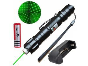 10Miles Powerful Green Laser Pointer Pen Beam Light Lazer 532nm+18650+Charger