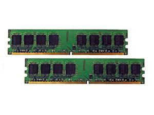 2GB (2 x 1GB) DDR2 667 DIMM PC2 5300 240-Pin CL5 Memory for Desktop Computers