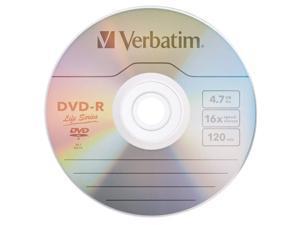 VERBATIM Life Series DVD-R DVDR 16X 4.7GB Branded Logo 100 pack