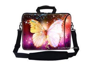 "17.3"" Neoprene Laptop Bag Case Sleeve w. Pocket Handle & Carrying Strap L1809"