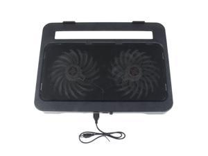 """New 2 Fan Laptop Cooling Cooler Pad Stand for Notebook PC 15.4"""" with 2 USB port"""