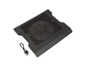 """New 2 USB Port Cooling Cooler 0ne Fan Pad Stand for 17"""" Laptop PC With LED Light"""