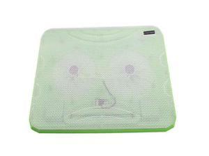 """New USB Cooling Cooler pad 2 Fans for 10-17"""" Laptop PC With LED Light Green"""