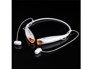 HV-800 Wireless Bluetooth Stereo Music Headset Universal Neckband for cellphones / White