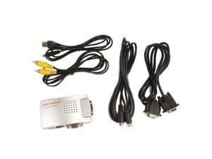PC Laptop VGA to TV RCA Composite S-video Converter Box