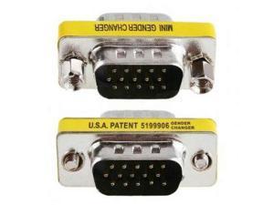 15 Pin SVGA VGA Female to Female gender changer adapter Converter Plug Coupler